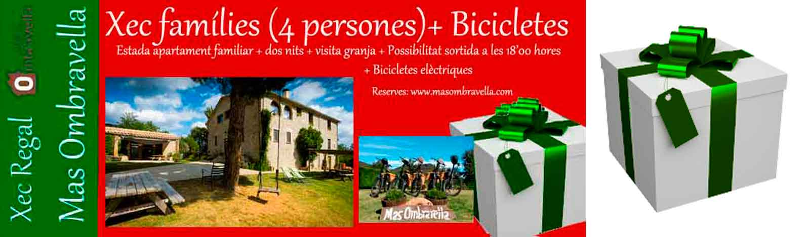 Vouchers for couples and families Mas Ombravella electric bicycle